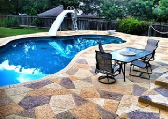 patio beside the pool
