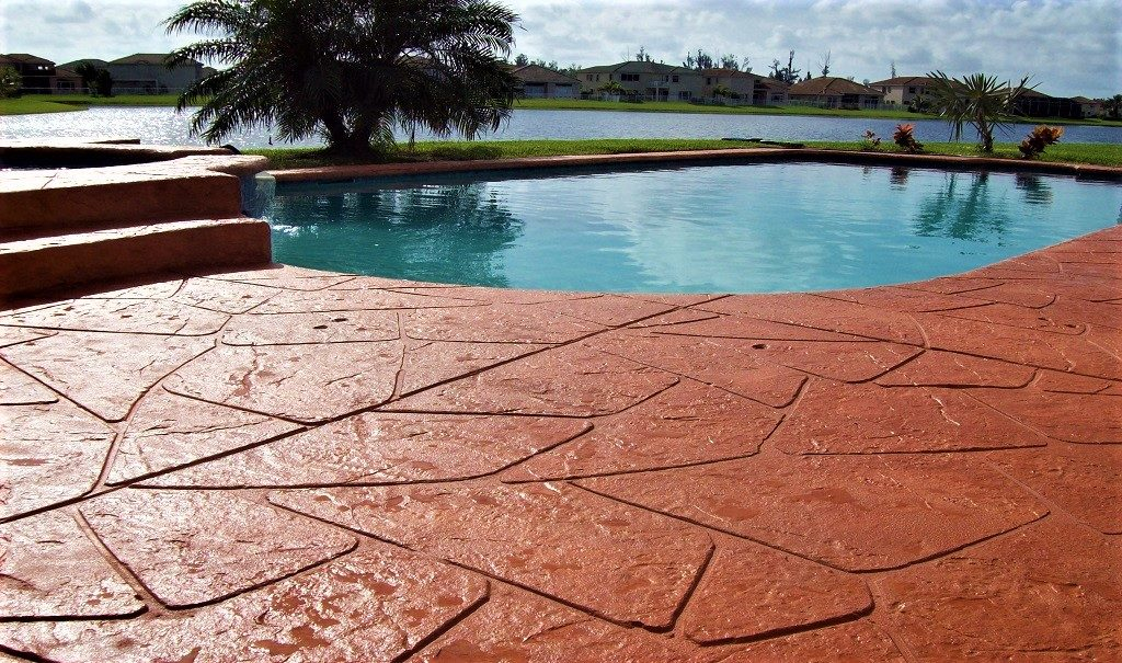 stamped concrete overlay