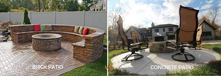 brick patio vs concrete patio atlanta